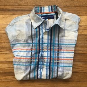 Enyce Multi Colored Short  sleeve button up XL